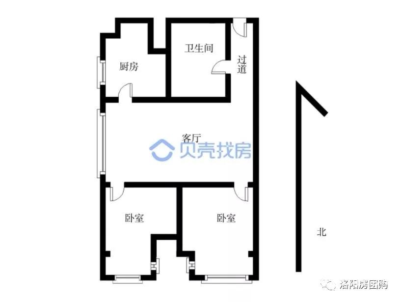 洛阳房团购二手房:洛龙区开元大道宝龙一室出售,9300元每平