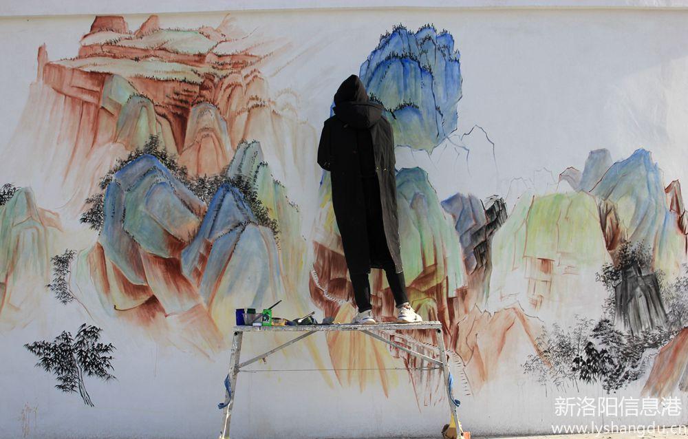 照片帖(723)精彩绘制彩画美,周山又添新景观