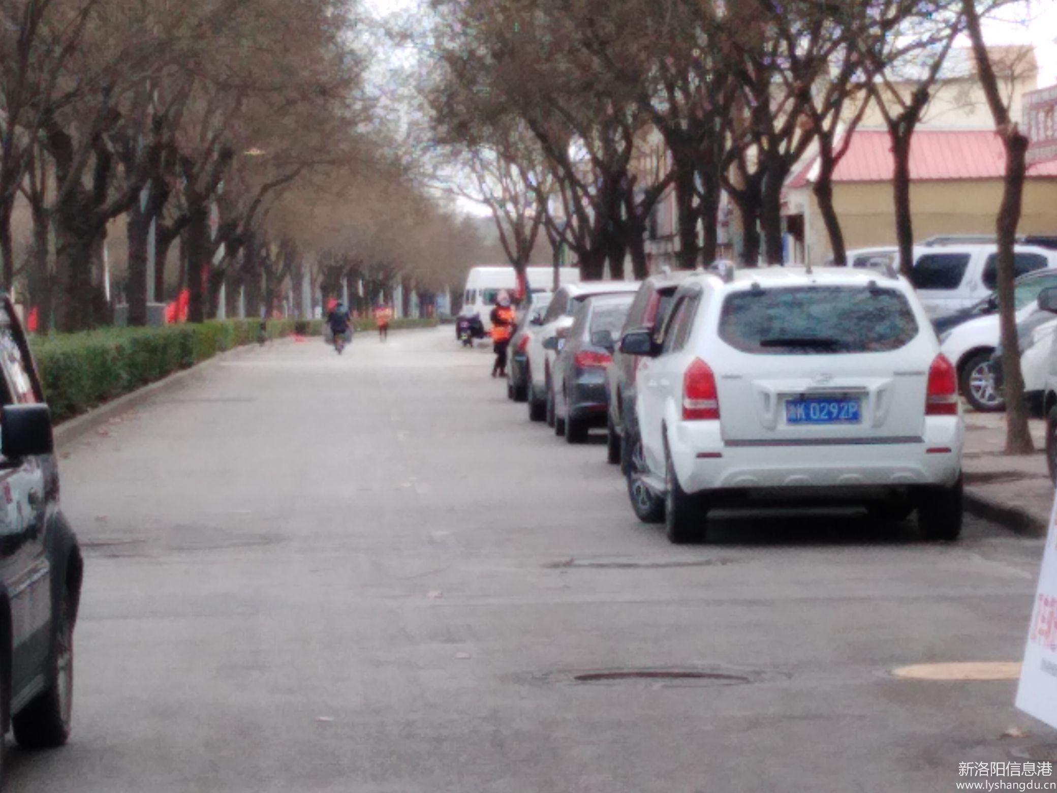 老城区道南路慢车道上有严重违章停车60辆
