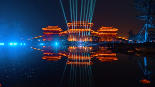 九州池灯光如幻