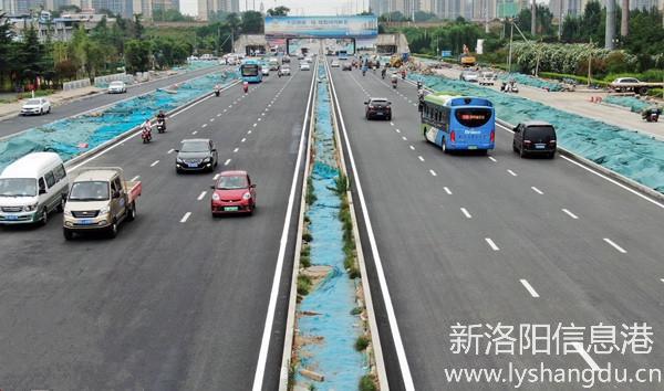 洛阳地铁1号线启明南路站以东区域约5公里快车道恢复通行